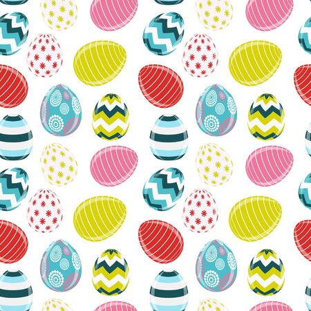 Beautiful Easter Egg Seamless Pattern Background Vector illustration.