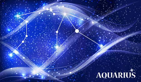 Symbol Aquarius Zodiac Sign. Vector Illustration. Illustration