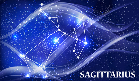 Symbol Sagittarius Zodiac Sign. Vector Illustration