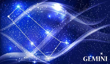 Symbol Gemini Zodiac Sign. Vector Illustration