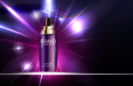 Template olie Essence Hydraterende Concentrate Fles voor advertenties of Mag Stock Illustratie