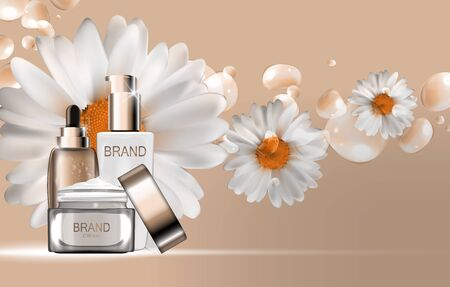 toner: Skin Toner, Face Cream and Oil Essence Hydrating Concentrate  Bo Illustration