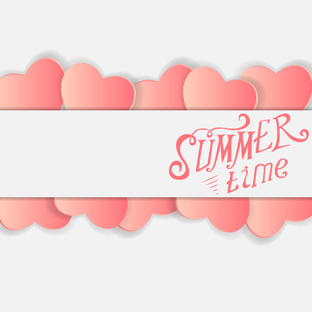 small group of objects: Colored Summer Time Vector Background Illustration. Illustration