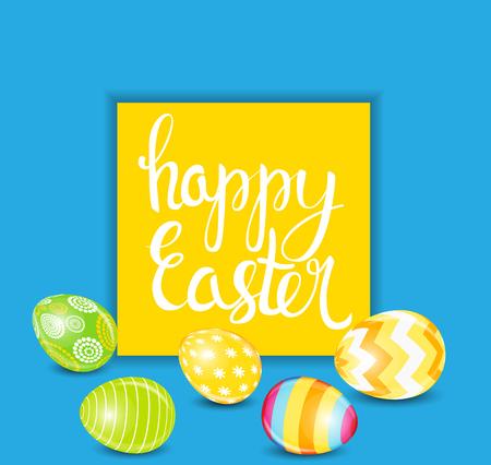 Happy Easter Spring Holiday Background Illustration