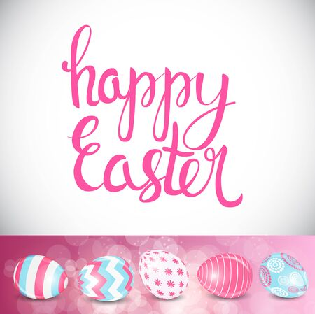Happy Easter Spring Holiday Background Illustration