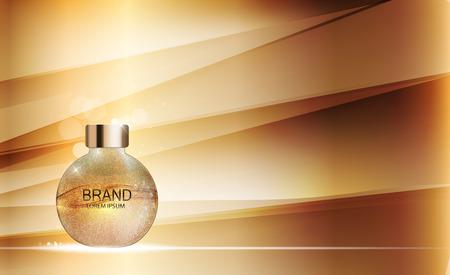 Design Kosmetik Produktvorlage für Anzeigen oder Magazine Backgroun Standard-Bild - 73708566