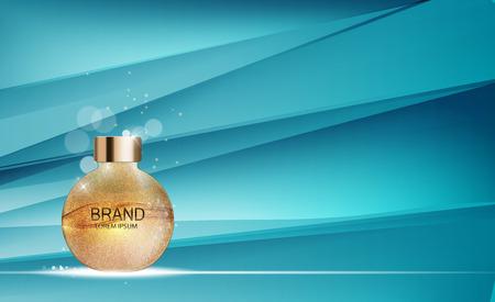 Design Cosmetics Product Template voor advertenties of Magazine Backgroun Stock Illustratie