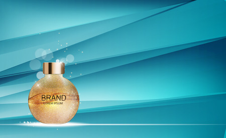 Design Cosmetics Product  Template for Ads or Magazine Backgroun Illustration