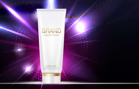 Design Cosmetics Product Template for Ads or Magazine Backgroun