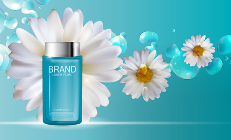 Beautiful design Cosmetics Product Template for Ads or Magazine Background.