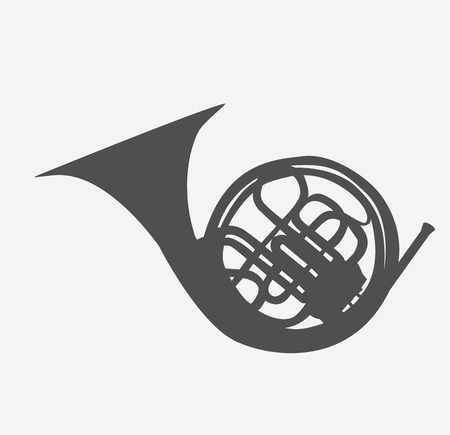 Musical Instrument Horn, which is Used in Symphony Orchestras an Illustration