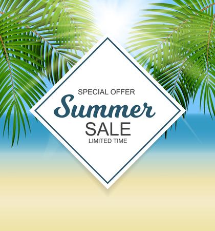 Summer Sale Pattern Vector Illustration