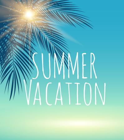Vacances d'été modèle naturel Vector Illustration