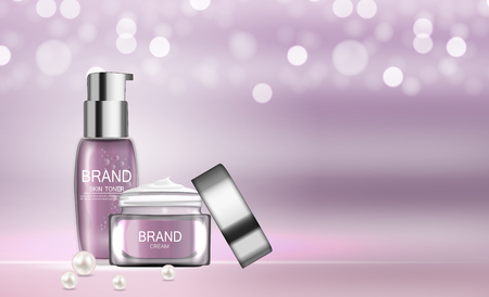 Design Cosmetics Product  Template for Ads or Magazine Background.