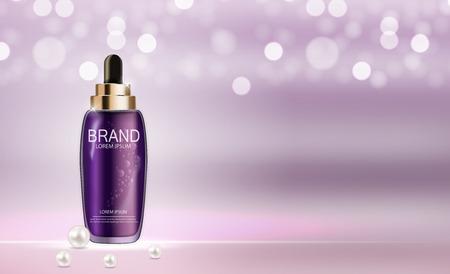 toner: Skin Toner Bottle Tube Template for Ads or Magazine Illustration