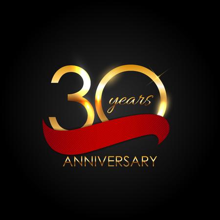 commemoration: Template 30 Years Anniversary Illustration Illustration