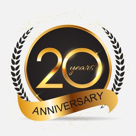 テンプレート 20 年周年記念イラスト 写真素材 - 77010383