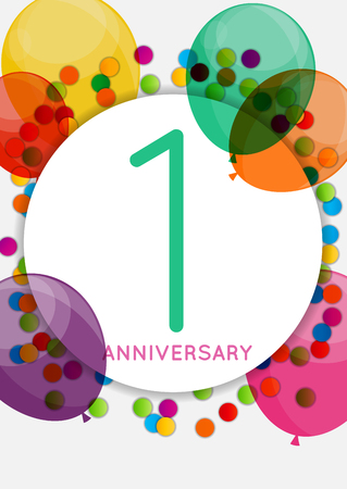 Template 1 Anniversary Congratulations, Greeting Card, Invitatio