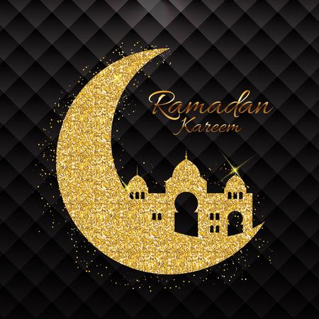 Background for Muslim Community Festival Ramadan Kareem.  Eid Mubarak. Vector Illustration EPS10
