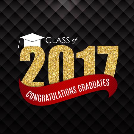 Congratulations on Graduation 2017 Class Background Vector Illus Illustration