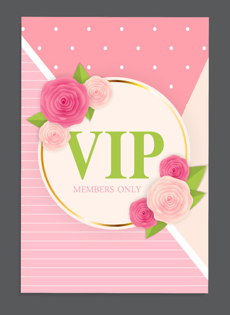 celebrities: Abstract Luxury VIP Members Only Invitation Background Vector Il
