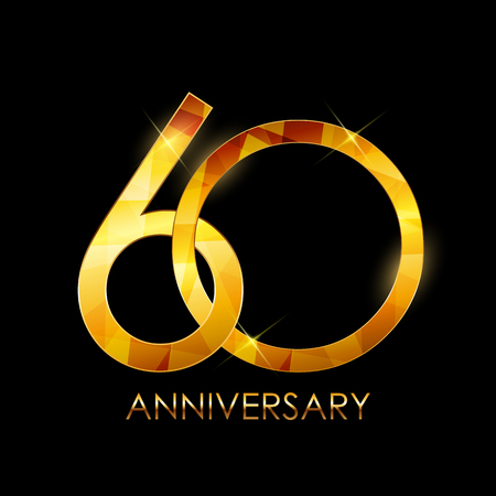 Template 60 Years Anniversary Congratulations Vector Illustratio Vectores