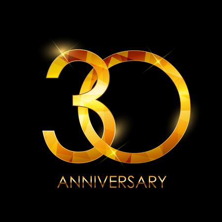 テンプレートの 30 年記念日おめでとうベクトル Illustratio  イラスト・ベクター素材