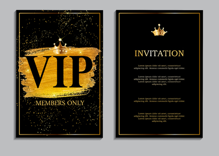 exclusive: Abstract Luxury VIP Members Only Invitation Background Vector Il