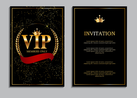Abstract Luxury VIP Members Only Invitation Background Vector Il