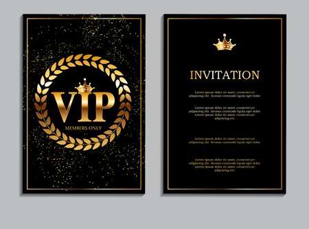 Abstract Luxury VIP Members Only Invitation Background Vector Illustration EPS10 Illustration
