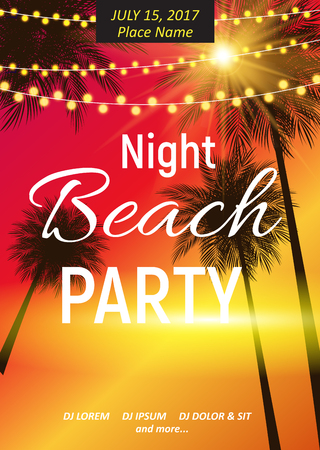 Summer Night Beach Party Poster