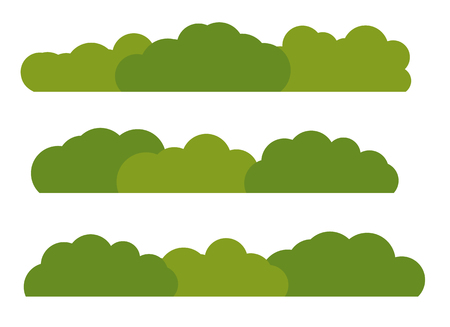 Green Bush Landscape Flat Icon Isolated on White Background. Vector Illustration EPS10