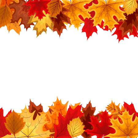 Abstract Vector Illustration Background with Falling Autumn Leav