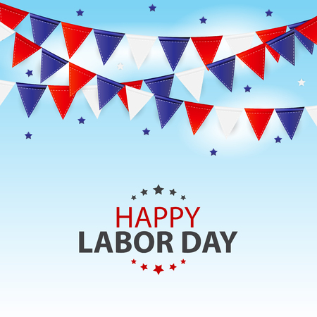 Happy Labor Day Poster Vector Illustration Vector Illustration