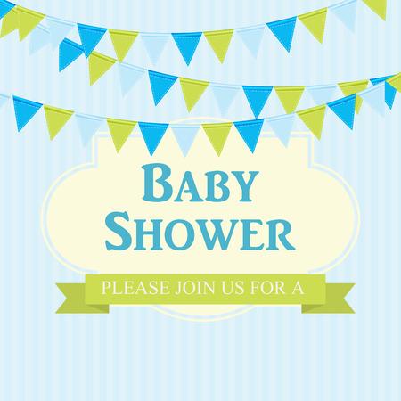 Baby Shower Invitation Vector Illustration Illustration