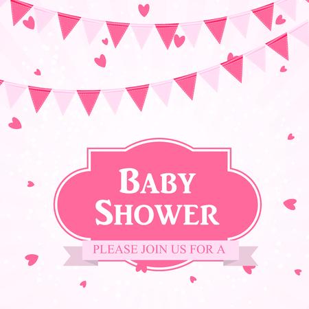 baby announcement card: Baby Shower Invitation Vector Illustration Illustration
