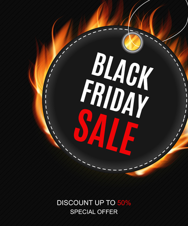 Black Friday Sale Inscription Banner Design Template Vector illustration