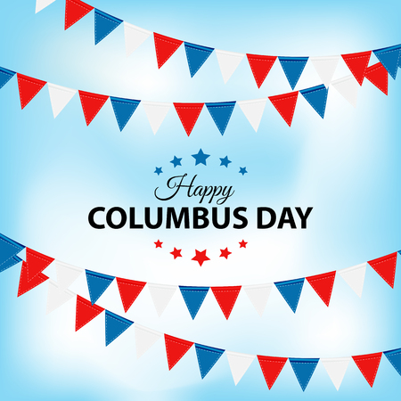 Columbus Day Background. Vector Illustration EPS10 Illustration
