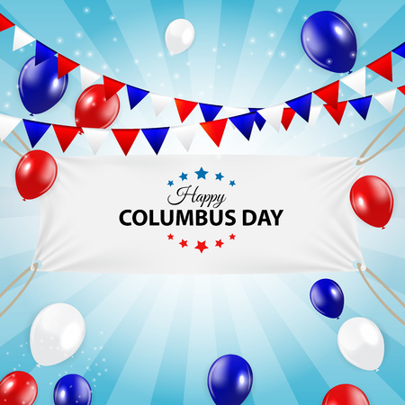 Columbus Day Background. Vector Illustration Illustration