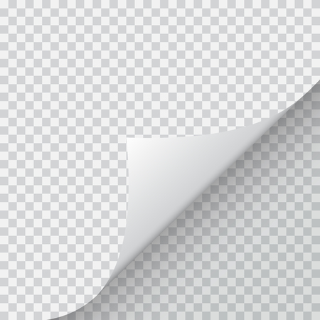 Shape of bent angle is free for filling. Vector Illustration.