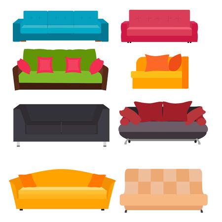 Sofa Icon Set Vector Illustration Illustration