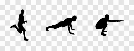Sticker for car athletes Silhouette of runner, person engaged i Banco de Imagens