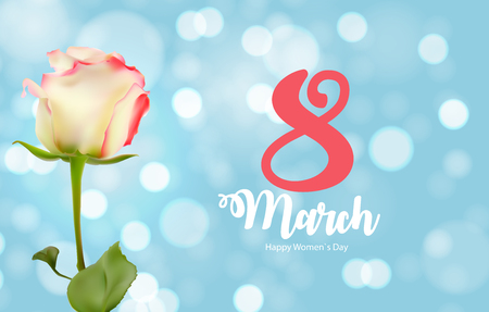 Poster International Happy Womens Day 8 March Floral Greetings