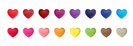 Set of Valentines Day Heart Sign Collection Set Vector Illustration EPS10