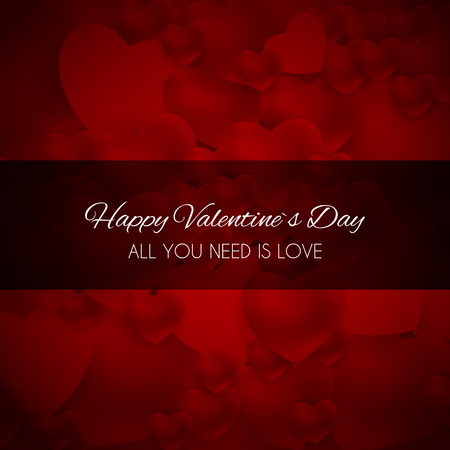 Valentines Day Heart Love and Feelings Background Design.