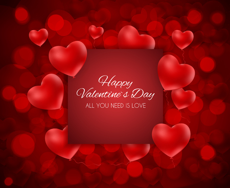Valentines Day Heart Love and Feelings Background Design. Banco de Imagens - 93594234
