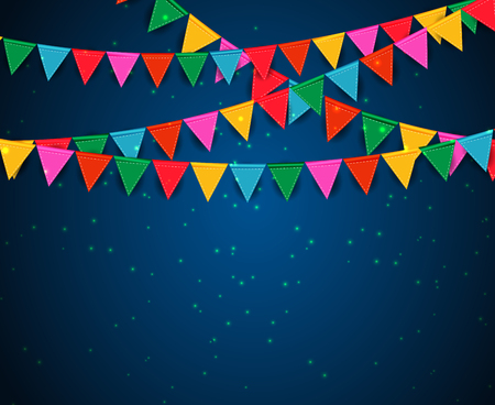 Party Background with Flags Vector Illustration. EPS 10 Illustration