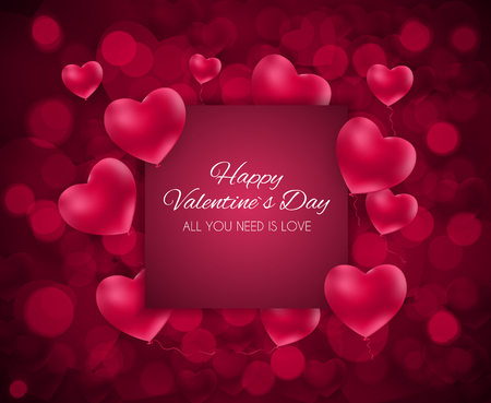 Valentine's Day Heart  Love and Feelings Background Design. Vector illustration EPS10 Ilustração