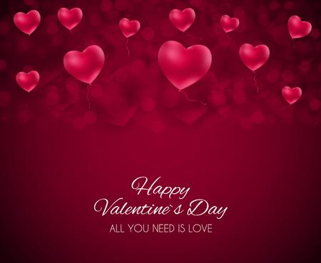 Valentines Day Heart Love and Feelings Background Design. Vector illustration. Illustration