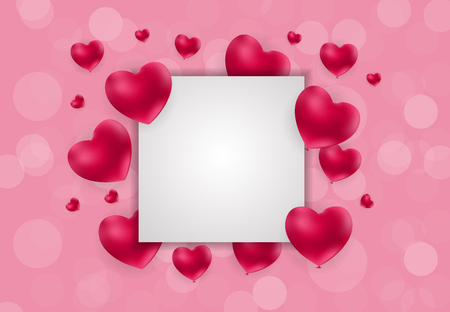 Valentines day heart love and feelings background design vector illustration.